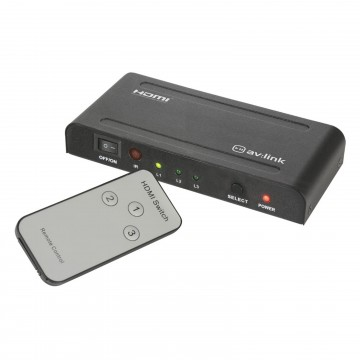 HDMI Switcher 3 Devices to 1 TV HDMI Port with IR Remote...
