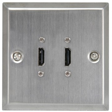 HDMI 2.0 4K Double Wall Plate Faceplate Twin Socket For HDMI...
