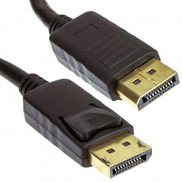 DisplayPort Male Plug to Plug Video Cable GOLD  0.5m 50cm LOCKING