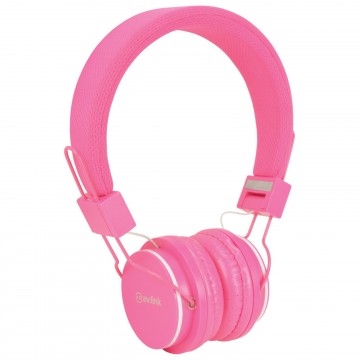 Kids Headphone with Hands Free Mic Control & Cushioned Earpads Pink