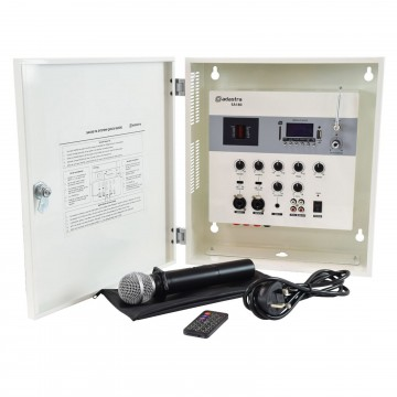 SA180 100V Secure Wall Amplifier Mixer FM Bluetooth USB SD Aux & Mic