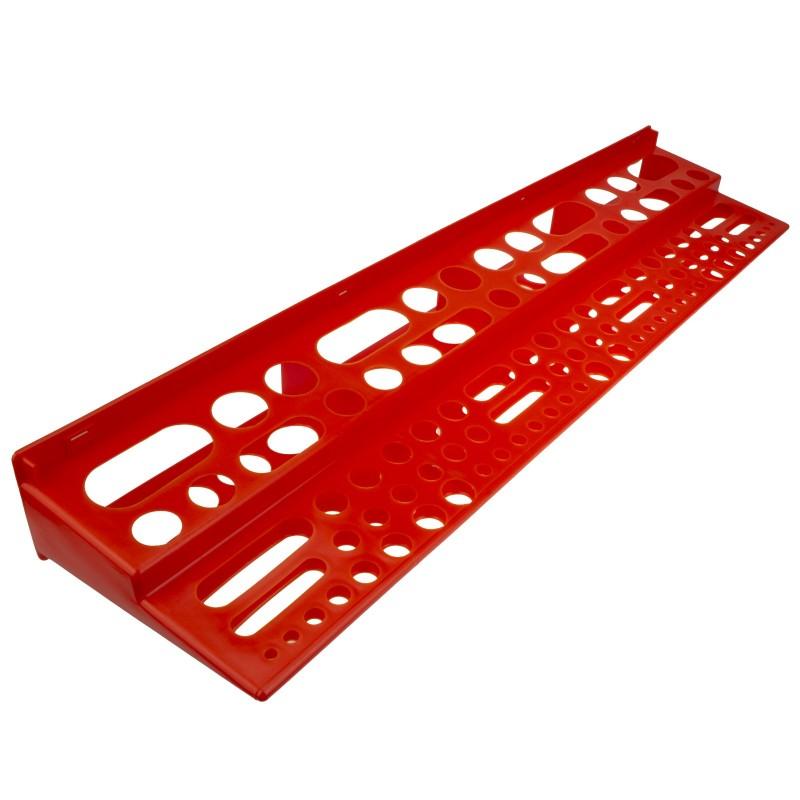 Tool Organiser Wall Bracket Shelf for Garage or Workshop 96 Assorted Size Holes
