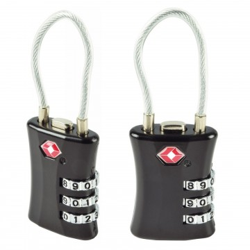 TSA Security Combination Lock Padlock for Travel Luggage Suitcase Locker 2 Pack