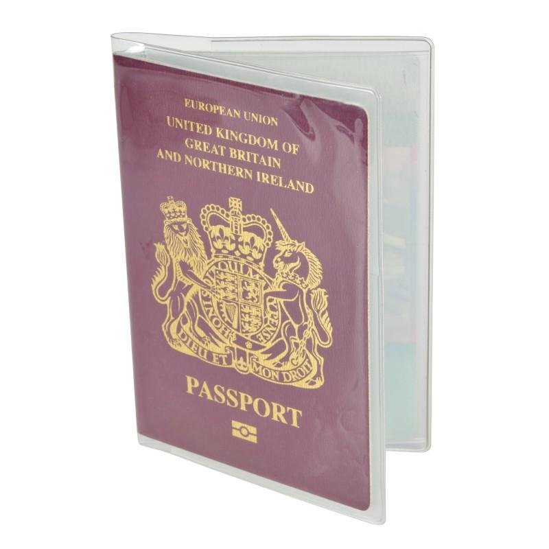 PVC Passport Cover UK/EU Passport Holder Protector Transparent Clear