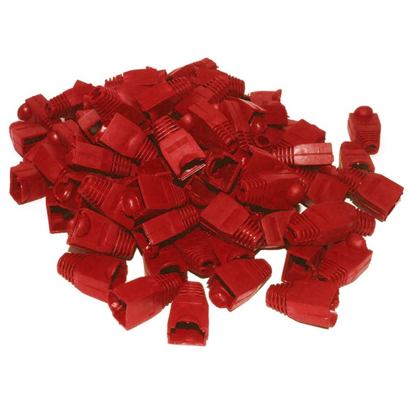 Boot for RJ45 Ethernet Network Cables RED [100 Pack]