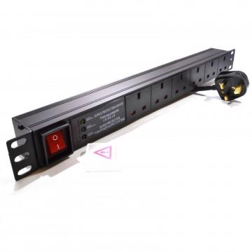 Power Distribution Unit PDU 6 Way Horizontal Surge 19 inch...