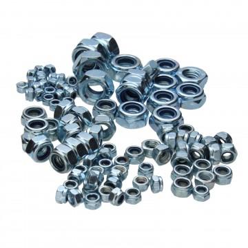 Assorted Locking Lock Nuts Locknuts M4/M5/M6/M8/M10/M12 [100 Piece Set]