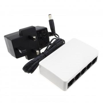 Tenda 5 Port 10/100 Switch Mini SOHO Desktop RJ45 Network with UK PSU