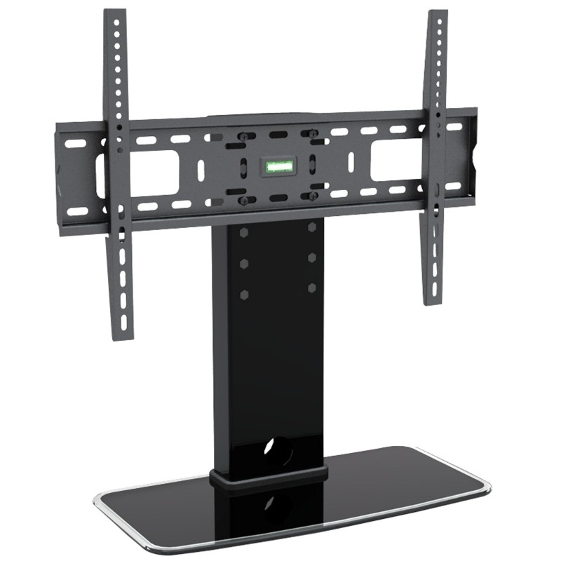 Universal Stand Adjustable Height TV Glass Pedestal for 32 to 60 inch TVs