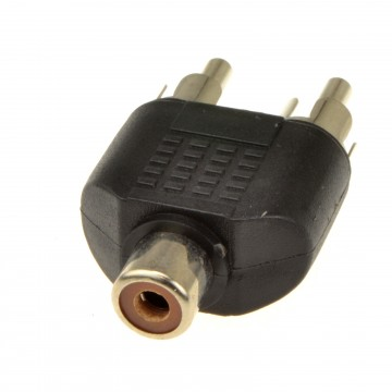 Phono RCA Splitter/Joiner Adapter Twin RCA Plugs to RCA Phono...