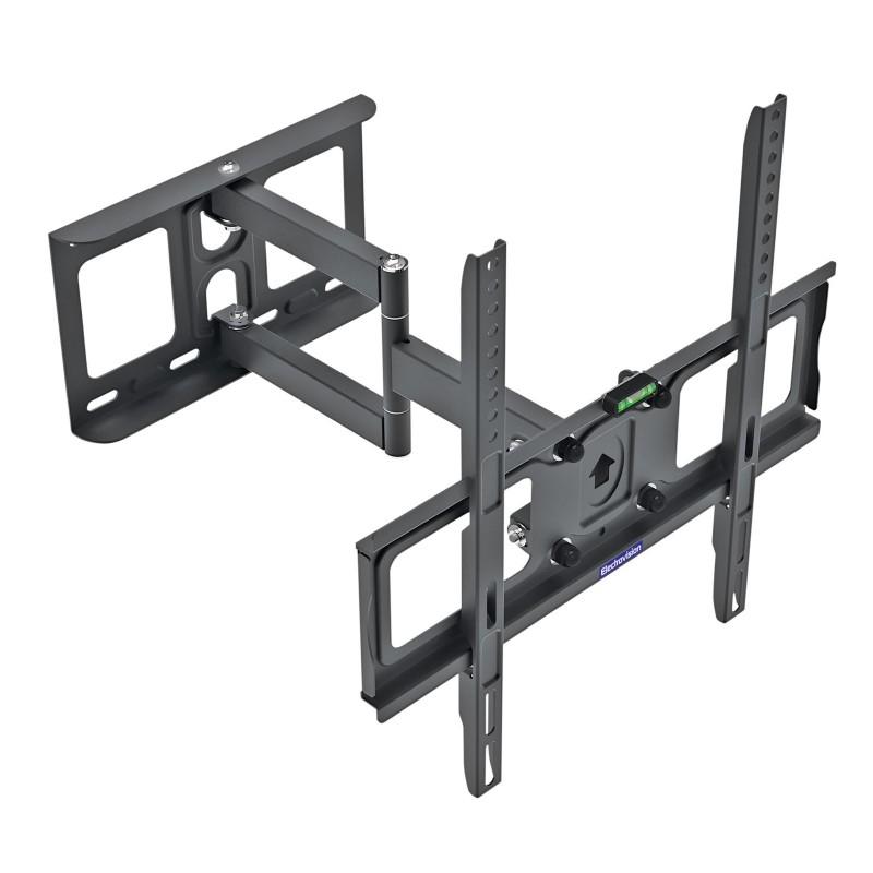Dual Pivot Tilt and Swivel TV Mounting Wall Bracket 26 to 55 Inch TVs