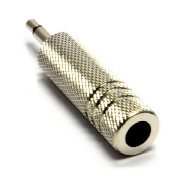 6.35mm Mono Jack Socket to 3.5mm Mono Jack Plug ALL METAL Adapter