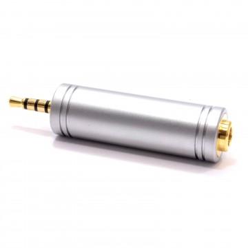 4 Pole 3.5mm Socket 2.5mm Jack Plug Converter Audio/Video All...