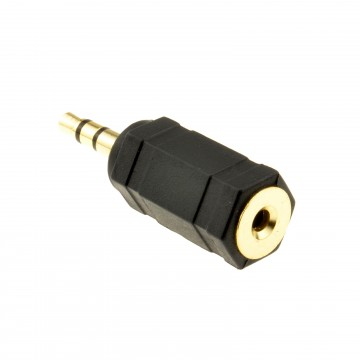 2.5mm Stereo Socket to 3.5mm Stereo Jack Plug Audio Cable Adapter Gold Plated