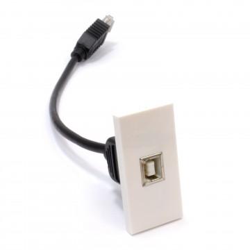 Ready Made Faceplate Module USB 2.0 Printer Type B Panel Mount...