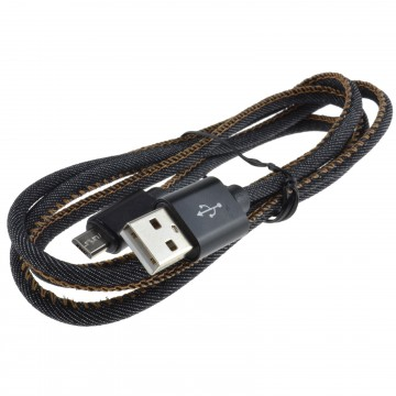 Denim USB 2.0 FAST CHARGE MICRO B Cable Android Phone 22AWG 1m