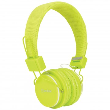 Kids Headphone with Hands Free Mic Control & Cushioned Earpads Green