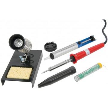 4 Piece Soldering Tool Kit 230V Iron/Desoldering...