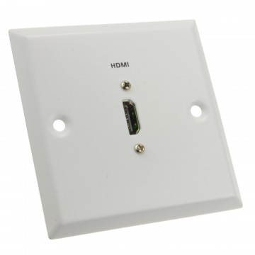 HDMI Wall Plate Mount Faceplate Socket For HDMI Cables in WHITE