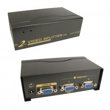SVGA VGA 2 Port Splitter From 1 PC/Device to 2...