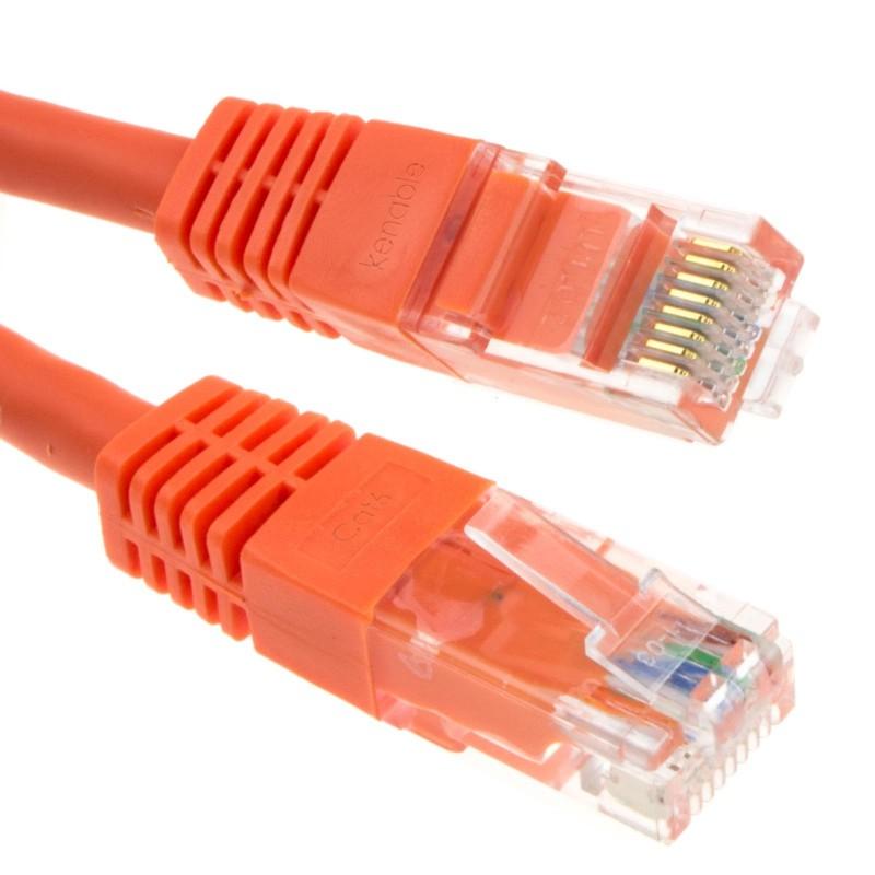 Ethernet Network Cable Cat6 GIGABIT RJ45 COPPER Internet Patch Lead 10m Orange