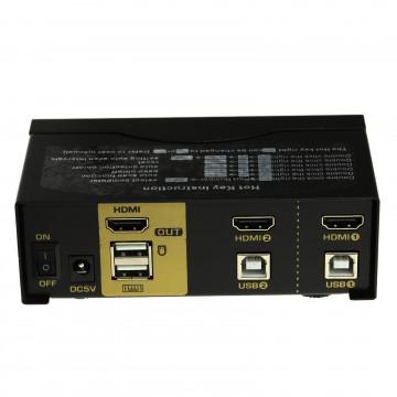 Newlink KVM 2 Port USB HDMI Switch Control 2 PCs with 1...