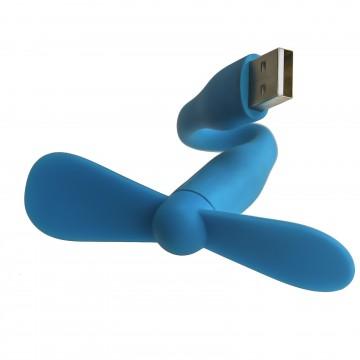 USB Portable & Flexible Fan High Powered Fan for Laptop Cooling BLUE
