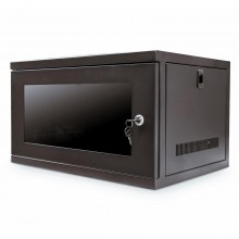 Wall Mounted Data Cabinet for 19 inch Rack Small 6U 400mm Black