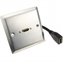 HDMI 2.0 4K Single Wall Plate Faceplate Socket with Pigtail -...