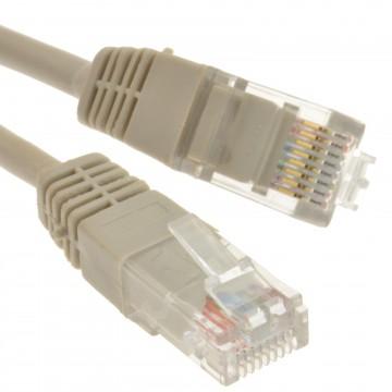 Grey Network Ethernet RJ45 Cat-5E UTP PATCH LAN COPPER Cable...