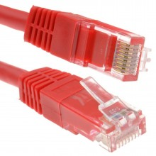 Red Network Ethernet RJ45 Cat-5E UTP PATCH LAN COPPER Cable...