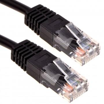 Black Network Ethernet RJ45 Cat-5E UTP PATCH LAN COPPER Cable...