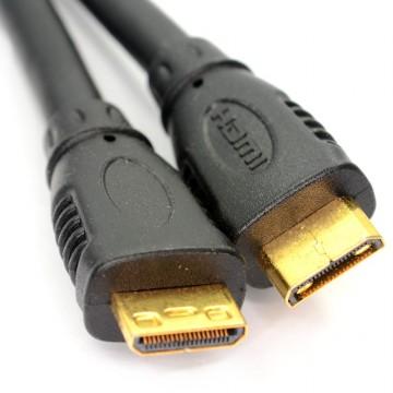 Mini HDMI Type C Male Plug to Mini HDMI Type C Male Cable Lead GOLD 3m