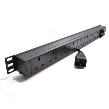 Power Distribution Unit C20 to  8 Way UK Mains Socket 19 inch...