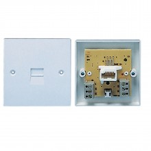 Secondary Telephone BT Socket 3/6A Flush Mounted Faceplate