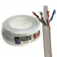 External CAT6 Outdoor Use COPPER Ethernet Network Cable Reel UTP  50m White