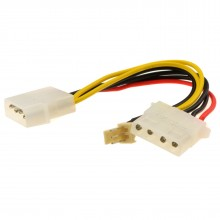 Power Converter Cable 4 pin LP4 Molex Female to 3 pin Fan Adapter