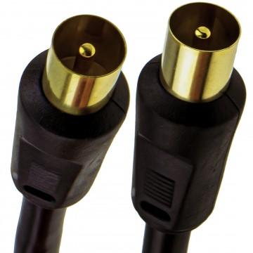 RF Coaxial RG6 TV Aerial Lead Coax Male Plug to Plug Black...