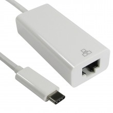 USB 3.1 Type C Male Plug to RJ45 Ethernet Gigabit Cable Adapter 15cm