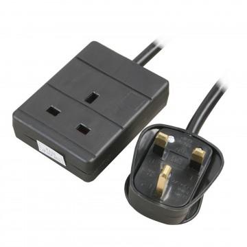1 Gang Single Way UK 13A Mains Power Socket Extension Lead...