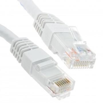Ethernet Network Cable Cat6 GIGABIT RJ45 COPPER Internet Patch Lead White 25m