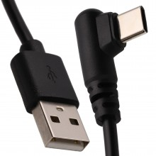 Right Angle USB-C FAST CHARGE Phone/Gaming Charger Cable Lead 22AWG 1m