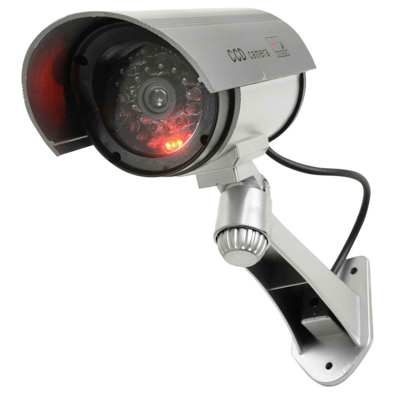 Dummy Infrared Adjustable Bullet Security CCTV Camera with Cable & LED