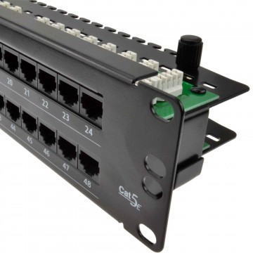 48 Port Networking Patch Panel Cat 5e Vertical Punchdown &...