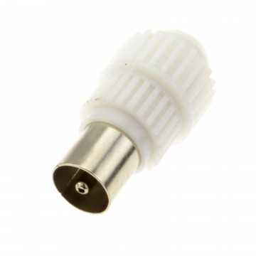 Easyfit TV RF Coaxial Plug End Screw Adapter For 75 ohm Coax Cables