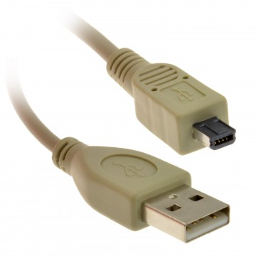 4 Pin Mini USB Male Plug to A type Male USB Plug Camera Cable 1.5m