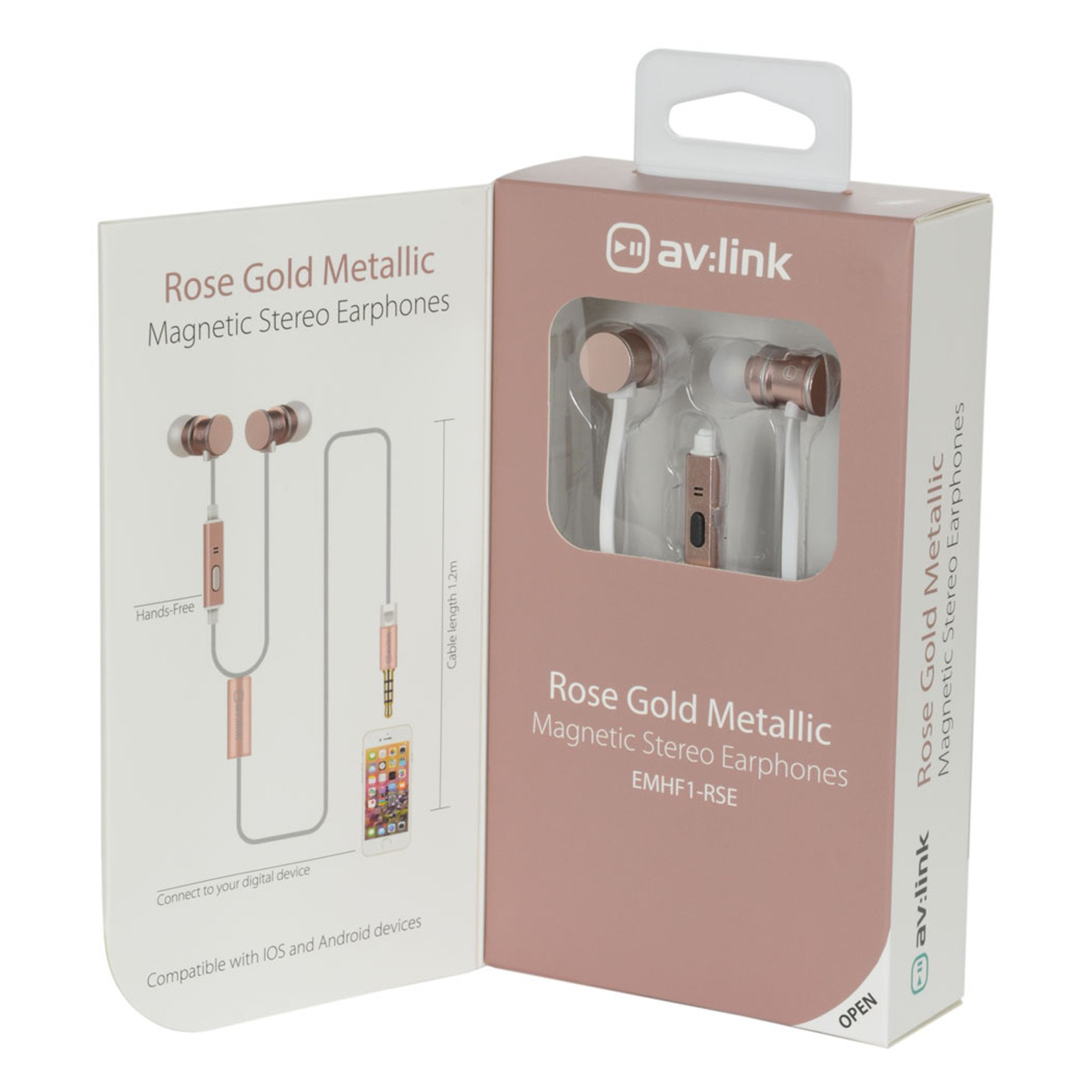 53cec73d78d AV Link Magnetic In-Ear Headphones with Hands Free Controls & Carry...
