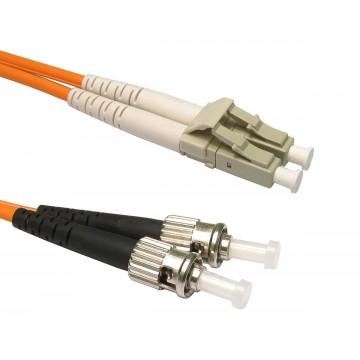 OM3 Orange Fibre Optic ST LC Duplex MM 50 125 Patch LSZH Cable 2m