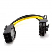 PCI Express PCIe 6 Pin to 8 Pin Graphics Card Power Adapter Cable 10cm