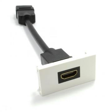 Ready Made Faceplate Module 3D HDMI Socket Panel Mount Stub 15cm